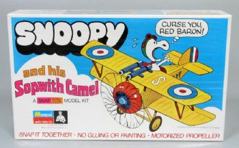 Snoopy and His Sopwith Camel Snap Together Model Kit